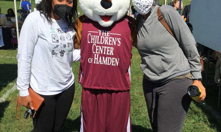 Whitney, Children's Center mascot attends Hamden Fest!
